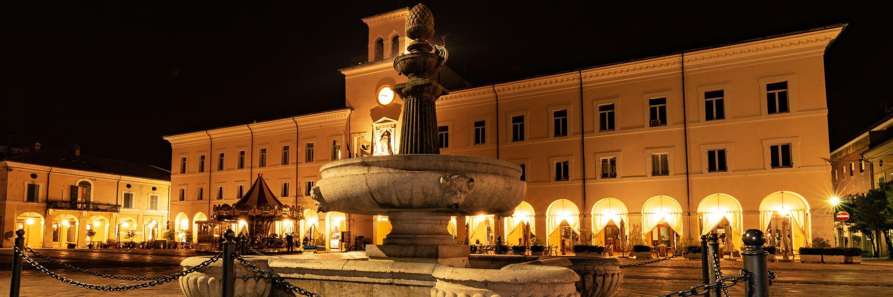 Der Brunnen am Garibaldi Platz