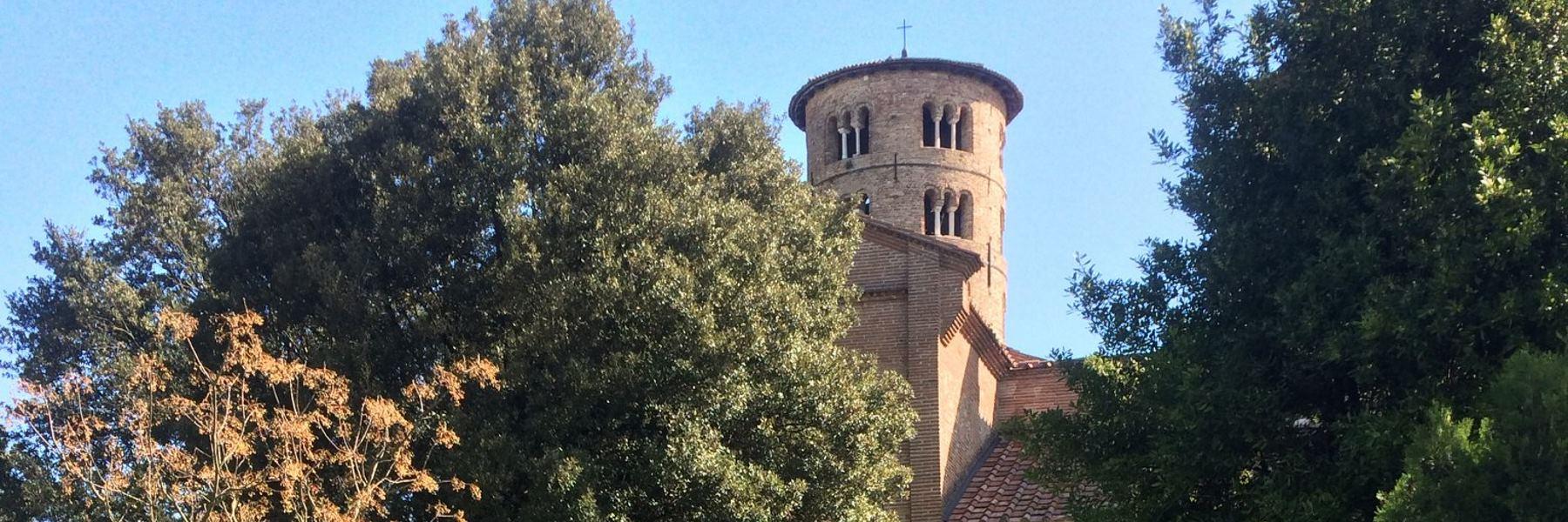Von Cervia bis die Basilika von Sant'Apollinare in Classe in Ravenna mit dem Fahrrad
