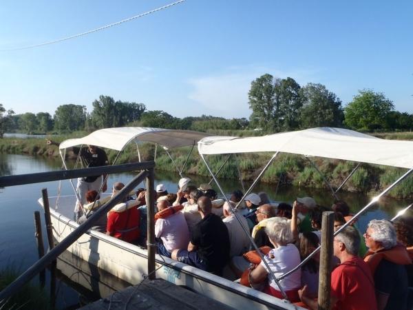 Bootsfahrt in der Saline, naturalistische Route