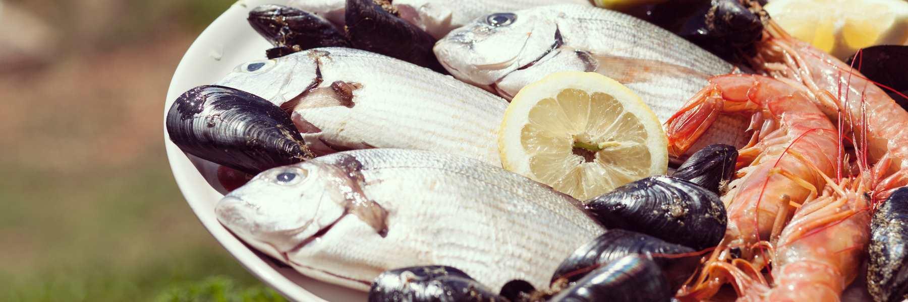 Polenta mit Fischsosse