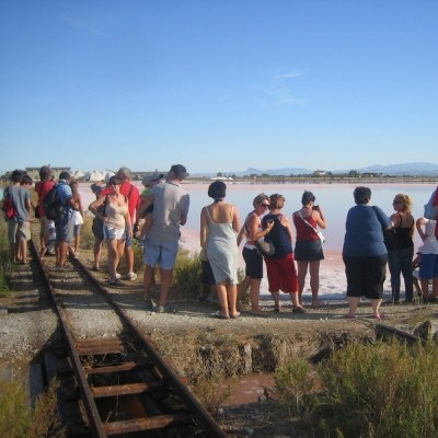 Walk in the salt pan