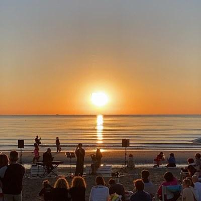 Sunrise concerts on the beach of Tagliata