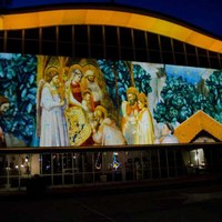 Artistic Nativity scene