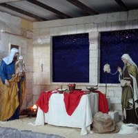 Nativity Scene in Stella Maris Church in Milano Marittima