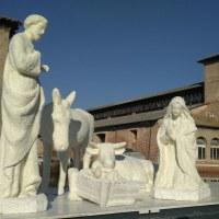 Salt Nativity scene on the water
