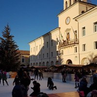 Ice skating rink  in the heart of Cervia