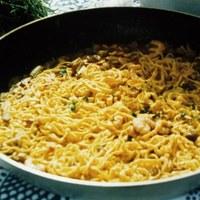 Handmade tagliolini with seafood sauce