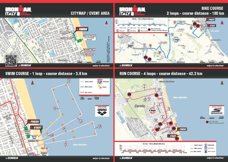 Ironman, course map