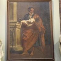 La peinture de Saint Joseph avec l'Enfant