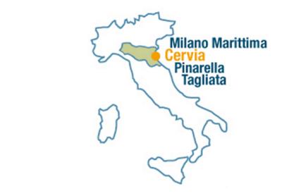 Milano Marittima Cartina Italia.Dove Siamo Mappa Italia Turismo Comune Di Cervia