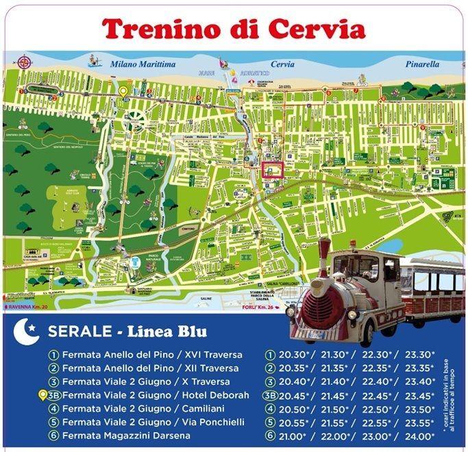 Trenino turistico Milano Marittima - Cervia, locandina Linea blu