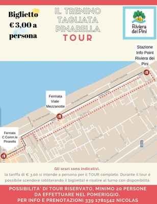 Tourist train Tagliata - Pinarella, poster
