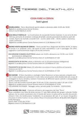 Cosa fare a Cervia in occasione di Ironman, locandina italiano
