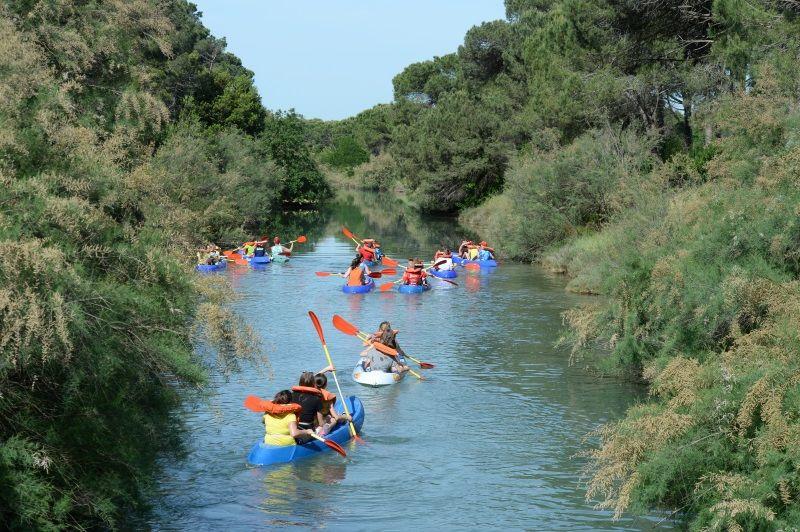 Canoa, escursione nel canalino
