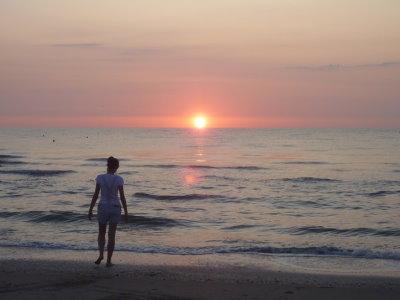 Alba in spiaggia