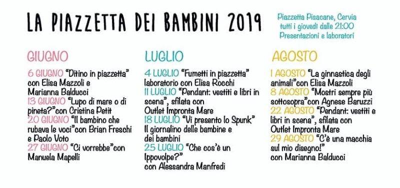 La Piazzetta dei bambini, locandina 2019