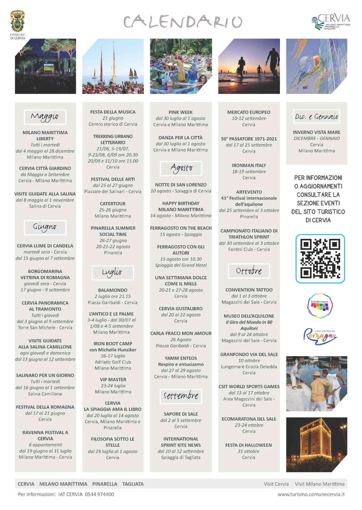 Cervia Experience, gli eventi principali 2021