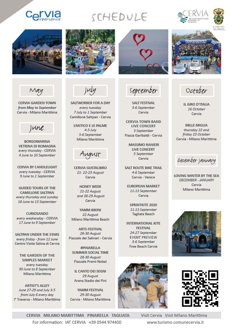 Cervia Experience, 2020 main events