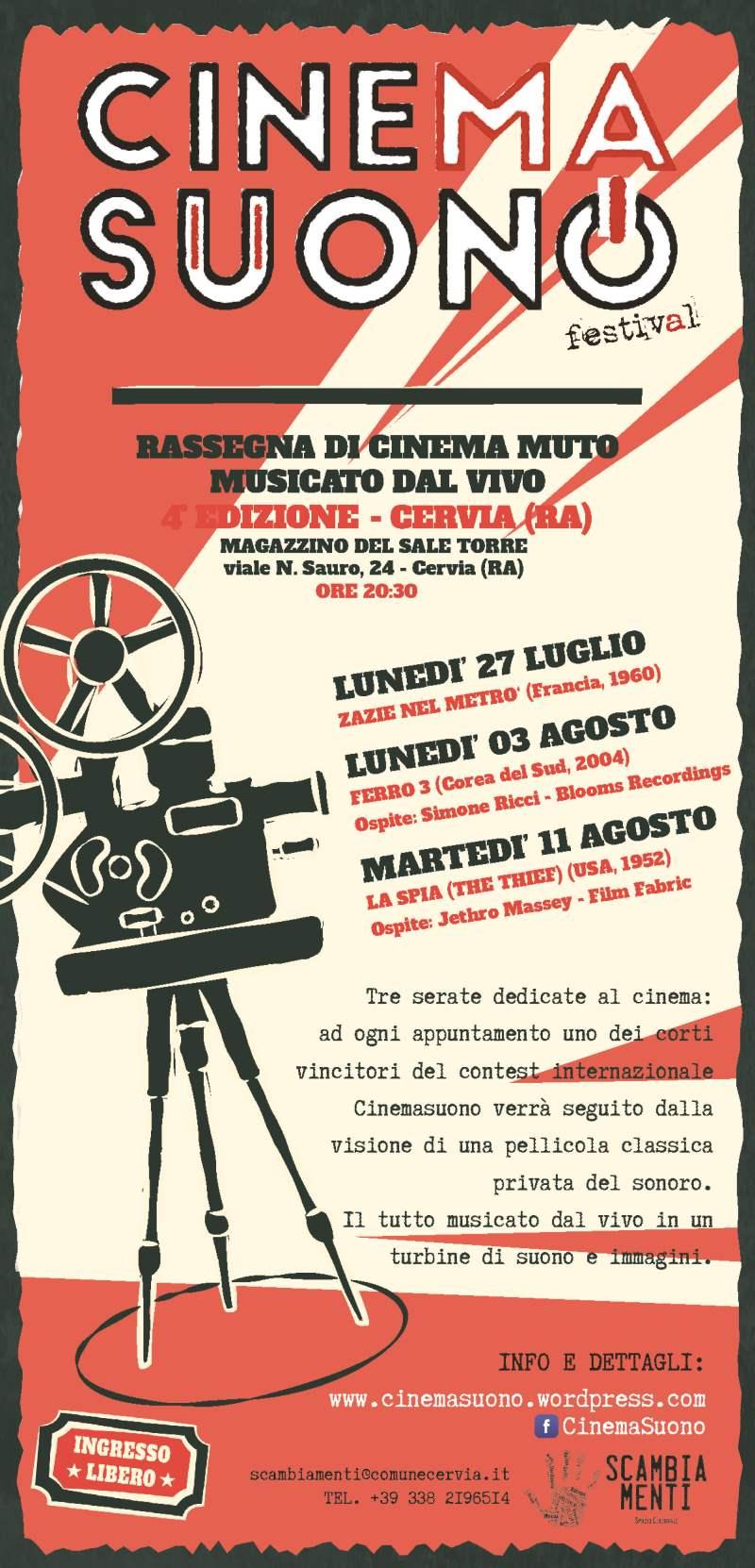 CinemaSuono, locandina 2020