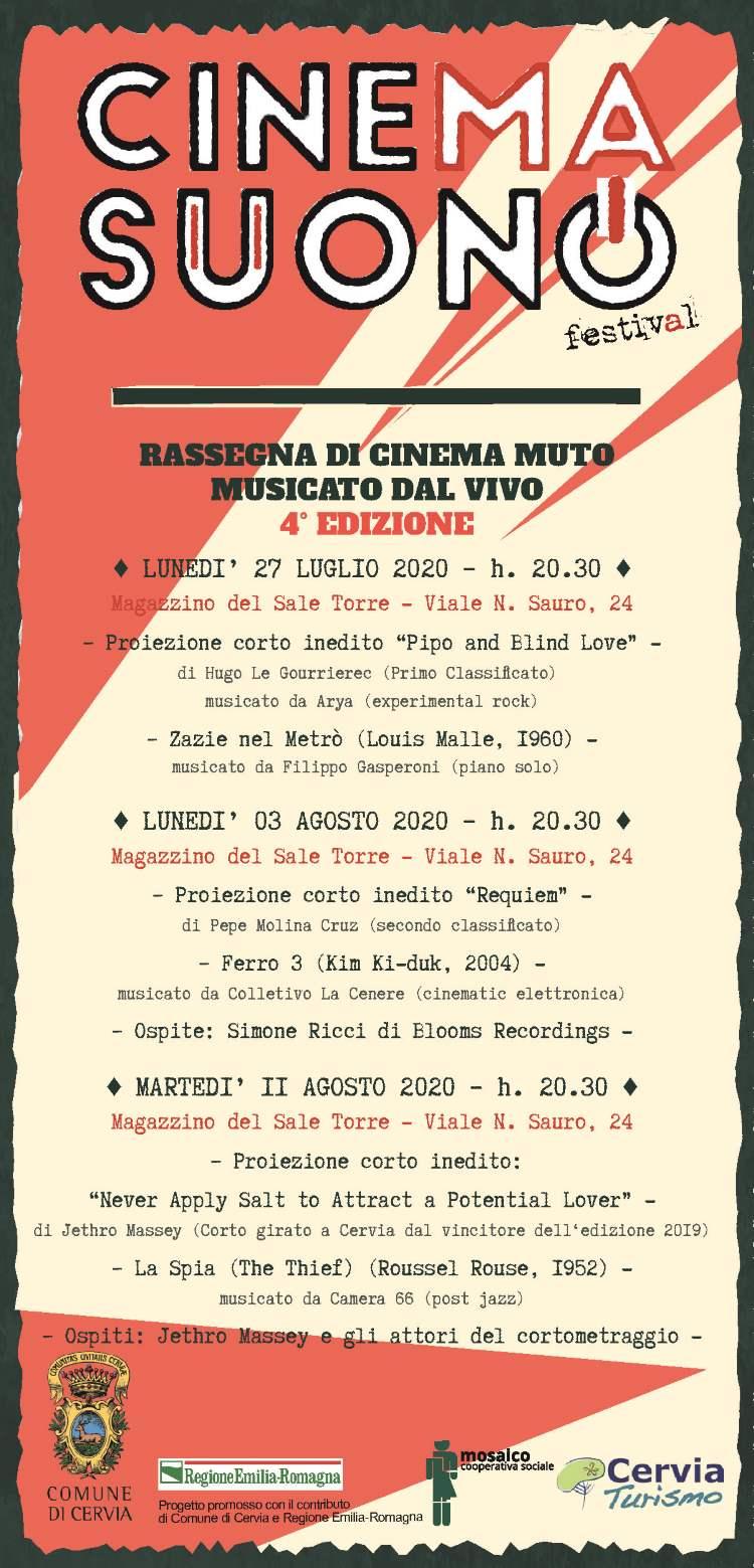 CinemaSuono, programma 2020
