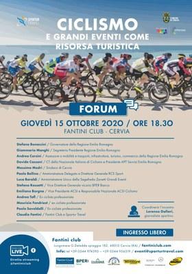 Forum ciclismo e grandi eventi, locandina