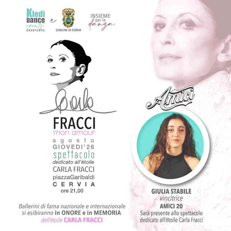 locandina Carla Fracci mon amour con Giulia Stabile