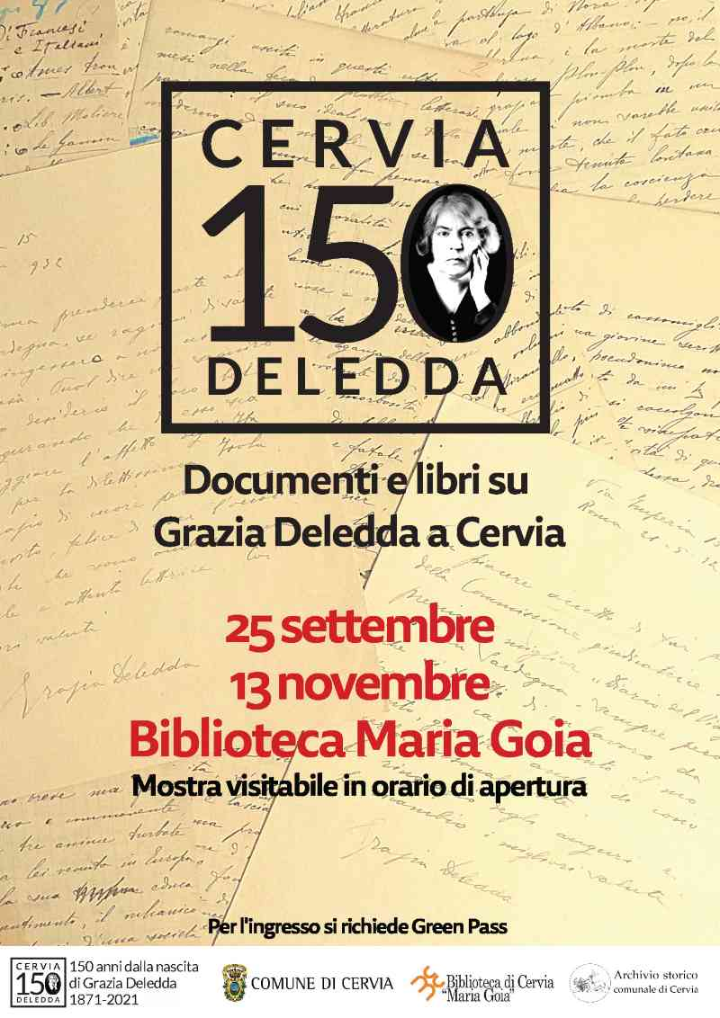 Cervia 150 Grazia Deledda, locandina mostra