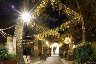 Christmas lights in Piazzetta Pisacane - Ph. Alberto Bruno Arpini