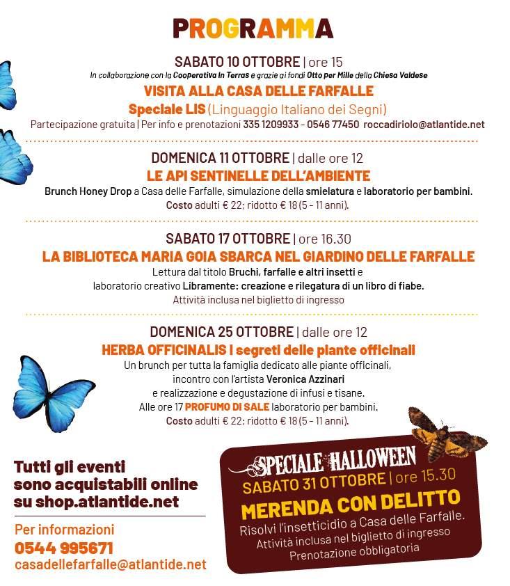Farfalle d'autunno - programma