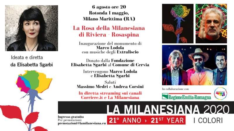 inaugurazione Rosa Marco Lodola a Milano Marittima