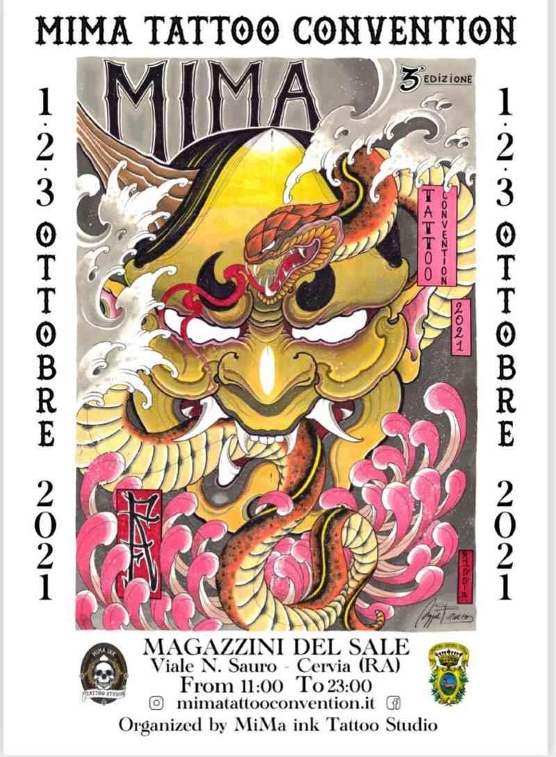 Mima Tatto Convention, 1-2-3 ottobre 2021, locandina