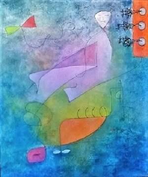 Alchimia del colore, olio e grafite su tela
