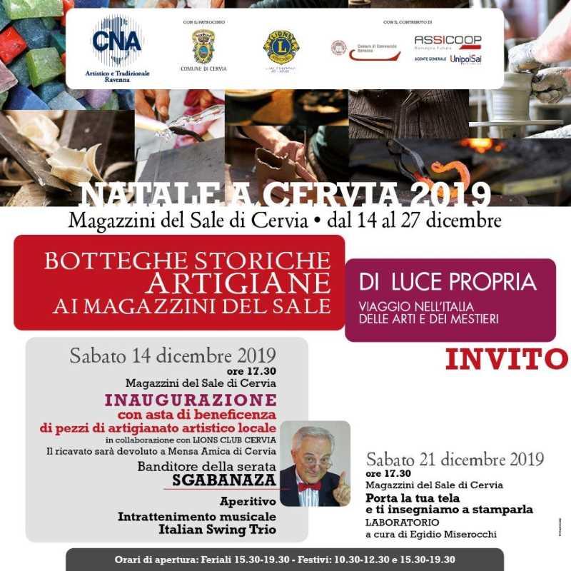 Artigianato artistico a Cervia, locandina 2019