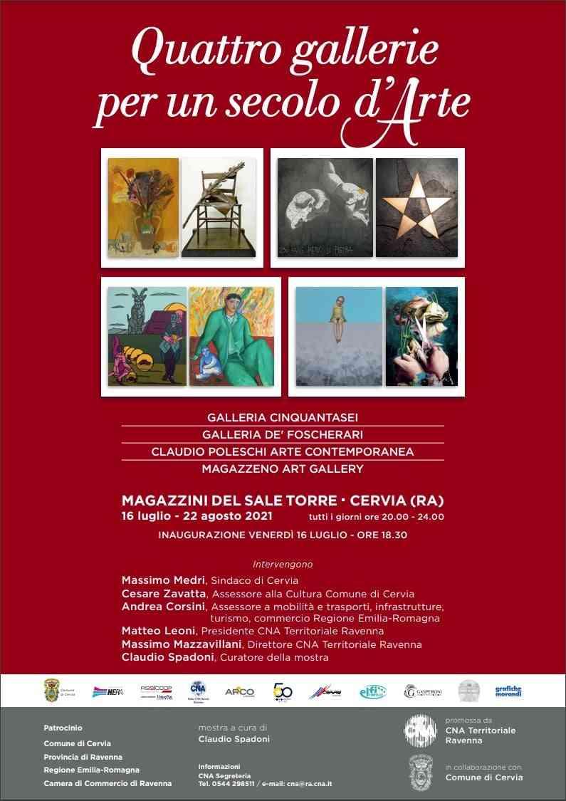 Quattro gallerie per un secolo d'arte, a Cervia
