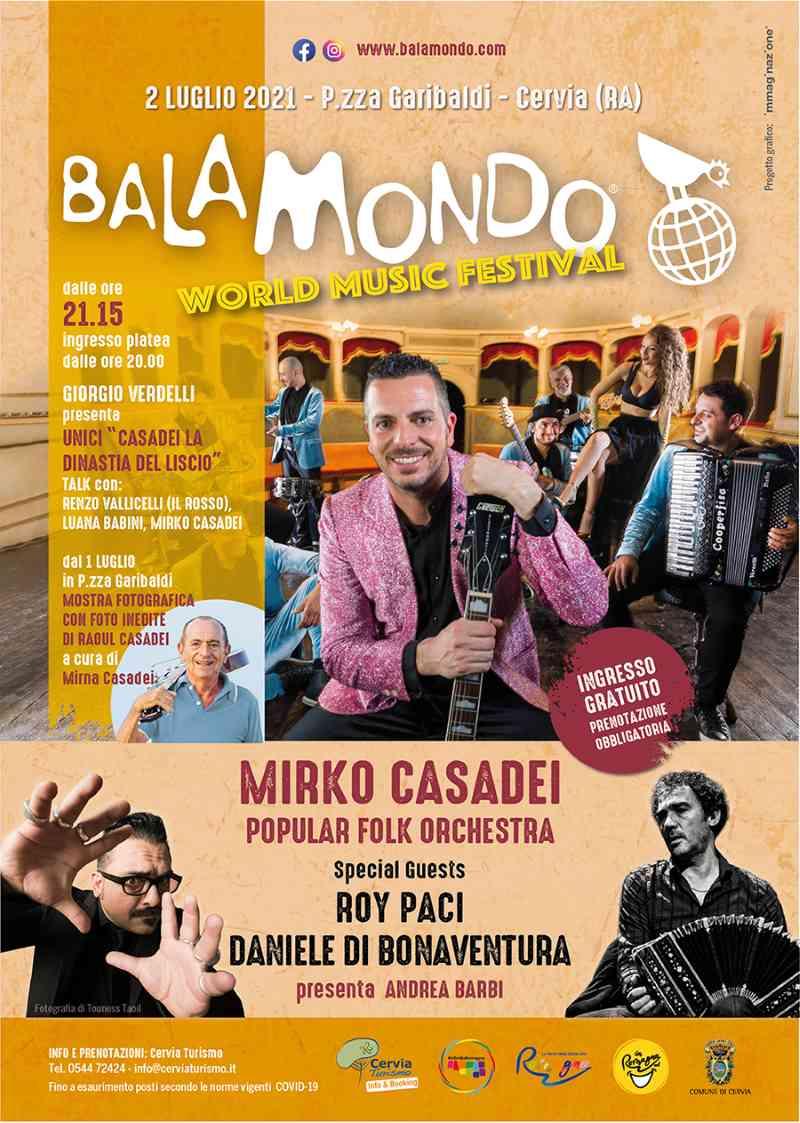 Balamondo, locandina evento Cervia