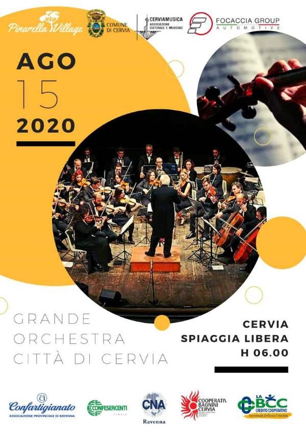 locandina concerto all'alba Cervia