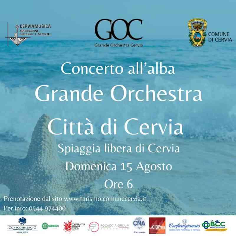 Concerti all'alba a Cervia, locandina Ferragosto