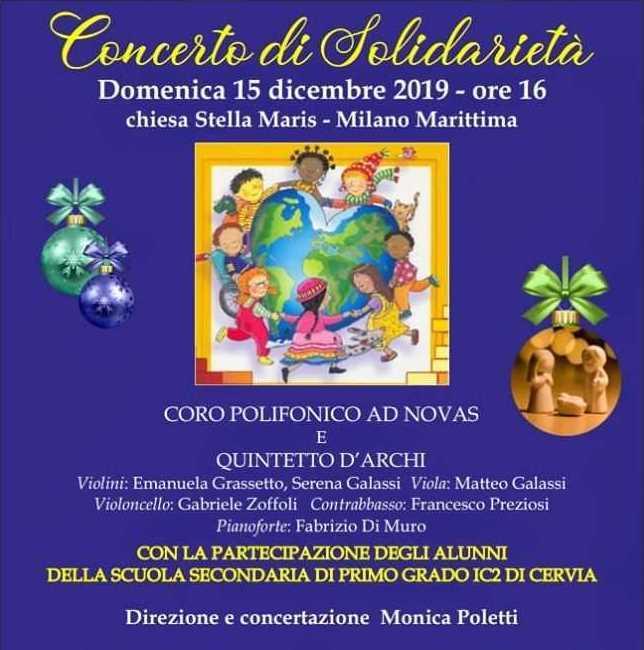 Concerto di solidarietà, locandina 2019