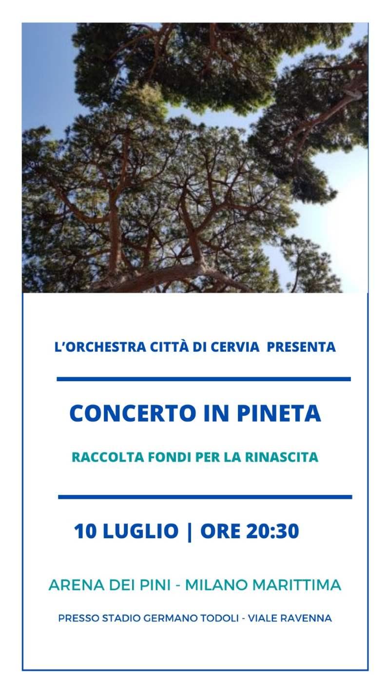 Concerto in pineta, locandina 2020
