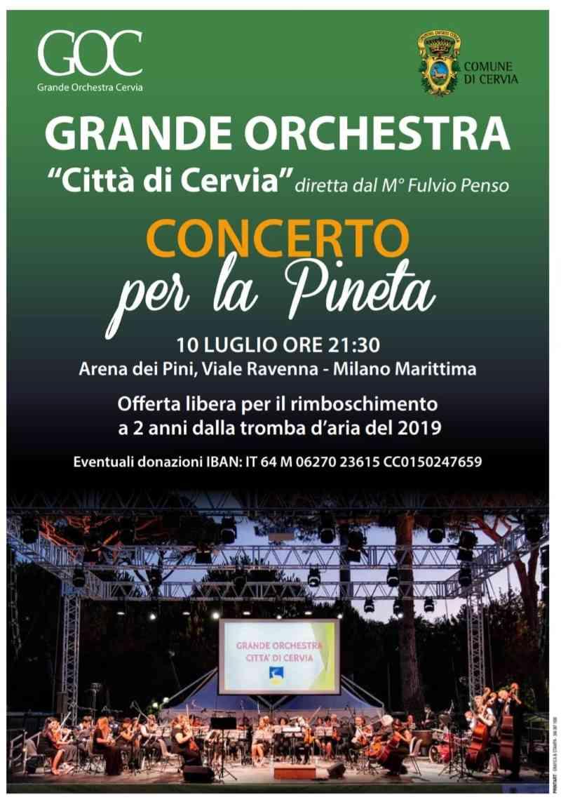 Concerto per la pineta di Milano Marittima, locandina 2021