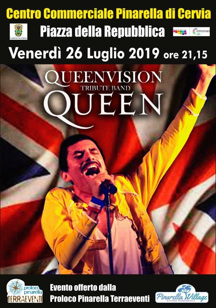 Tributo ai Queen, 26 luglio 2019
