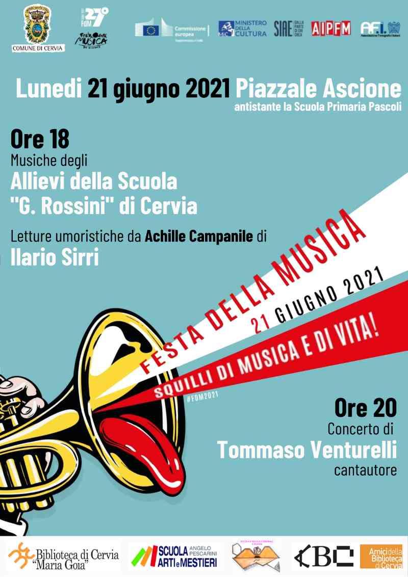 Festa della musica, Cervia locandina 2021