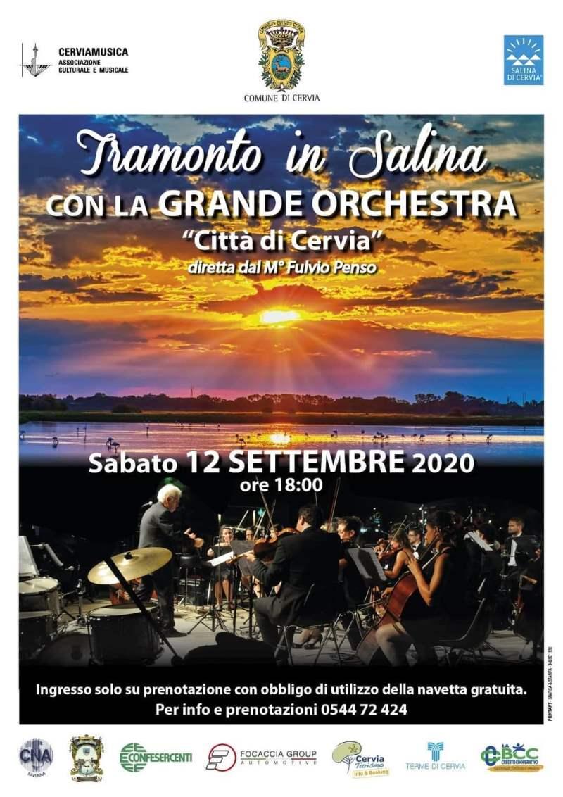 Grande Orchestra Città di Cervia, locandina concerto in salina