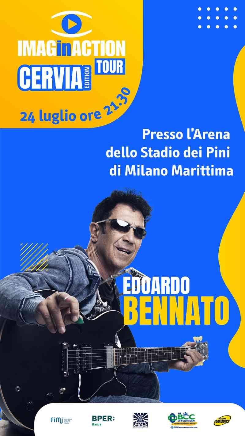 ImaginAction Tour Cervia Edition - Edoardo Bennato, locandina