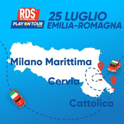 RDS Play on Tour Summer 2020, tappa Cervia Milano Marittima