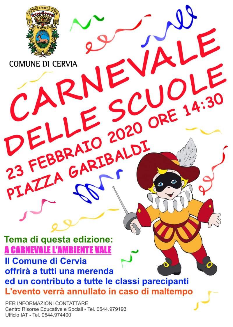 Carnevale delle scuole, locandina 2020