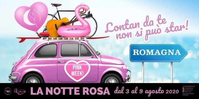 Notte Rosa a Cervia, Pink Week, grafica