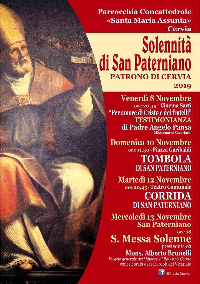San Paterniano, locandina 2019
