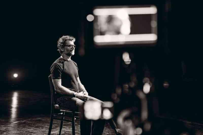 Across me, Andrea Pelo di Giorgio sul set