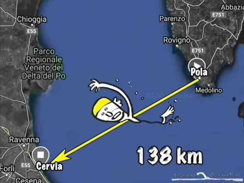 Across me, mappa Pola Cervia